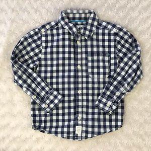 Carter's Blue Gingham Shirt Button Down 4T